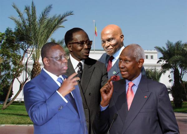 Les-presidents-Senegalais-Senghor-Abdou-diouf-Abdoulaye-Wade-Macky-Sall