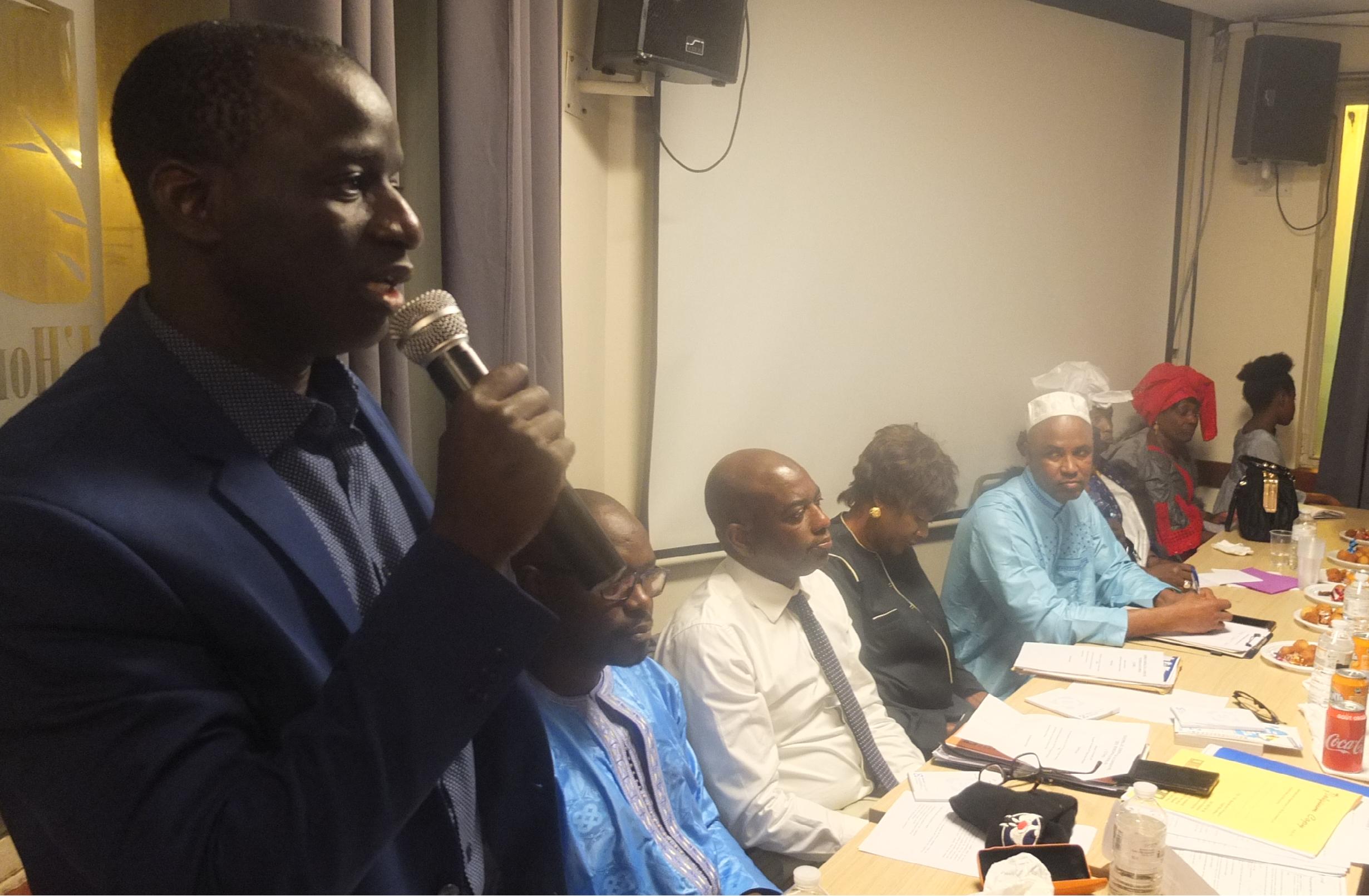 Photo prise lors du lancement de la Coopérative d'Habitat des Sénégalais du Benelux à Bruxelles